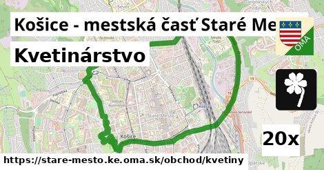 kvetinárstvo v Košice - mestská časť Staré Mesto