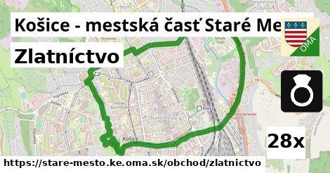 zlatníctvo v Košice - mestská časť Staré Mesto