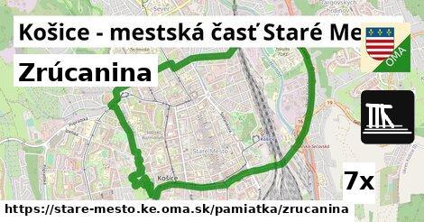 zrúcanina v Košice - mestská časť Staré Mesto