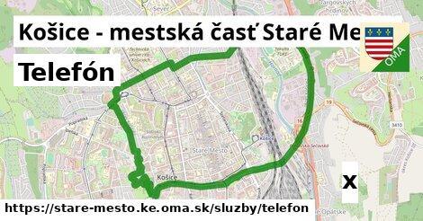 telefón v Košice - mestská časť Staré Mesto