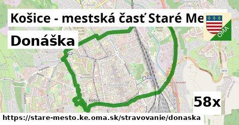 donáška v Košice - mestská časť Staré Mesto