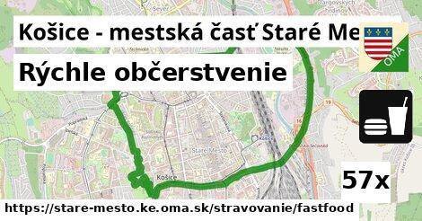 rýchle občerstvenie v Košice - mestská časť Staré Mesto