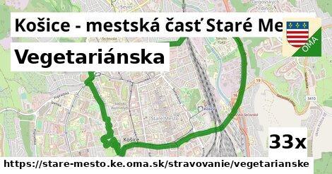 vegetariánska v Košice - mestská časť Staré Mesto