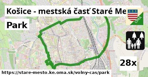park v Košice - mestská časť Staré Mesto