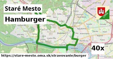 hamburger v Staré Mesto