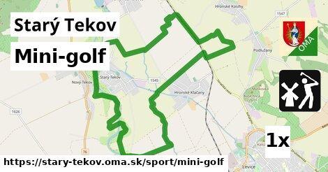 mini-golf v Starý Tekov
