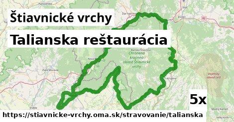 ilustračný obrázok k Talianska reštaurácia, Štiavnické vrchy
