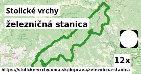 ilustračný obrázok k železničná stanica, Stolické vrchy