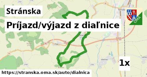 príjazd/výjazd z diaľnice v Stránska