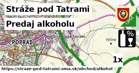 predaj alkoholu v Stráže pod Tatrami