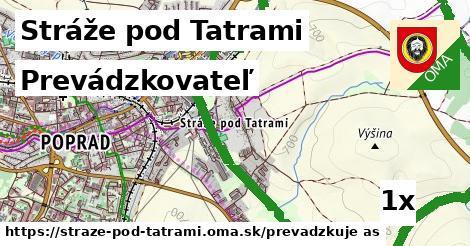 prevádzkovateľ v Stráže pod Tatrami