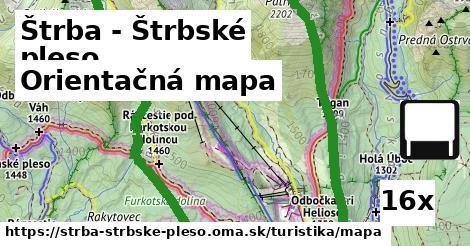 orientačná mapa v Štrba - Štrbské pleso