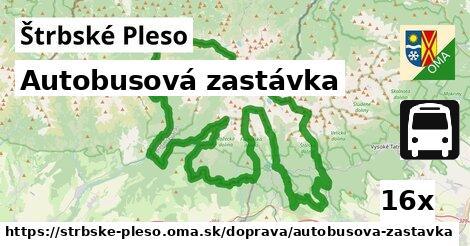 autobusová zastávka v Štrbské Pleso