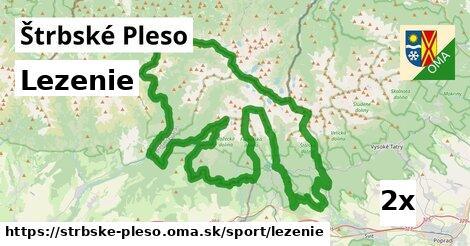 lezenie v Štrbské Pleso