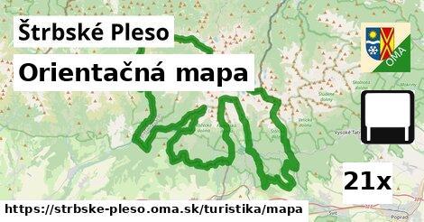 orientačná mapa v Štrbské Pleso