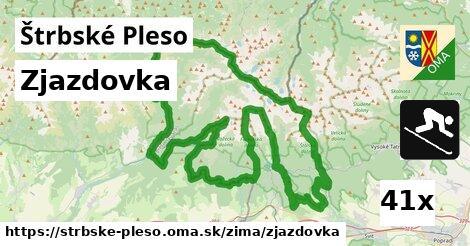 zjazdovka v Štrbské Pleso
