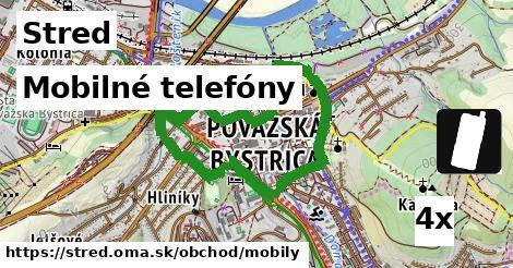 mobilné telefóny v Stred