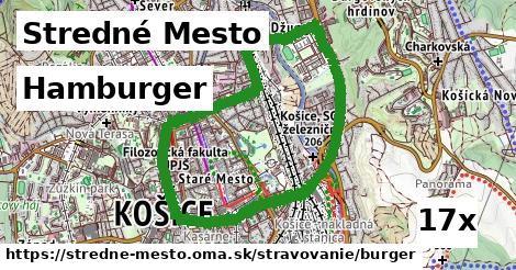 hamburger v Stredné Mesto