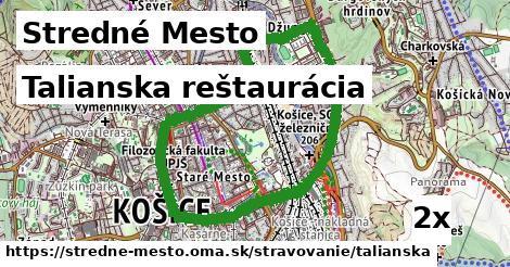 talianska reštaurácia v Stredné Mesto