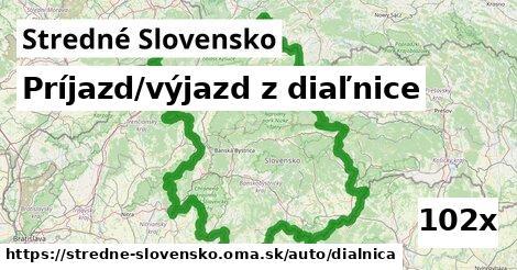 príjazd/výjazd z diaľnice v Stredné Slovensko