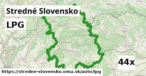 ilustračný obrázok k LPG, Stredné Slovensko