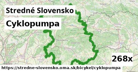 cyklopumpa v Stredné Slovensko