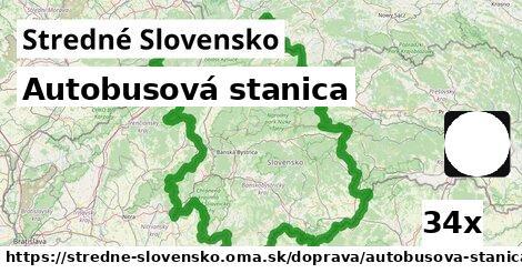 autobusová stanica v Stredné Slovensko