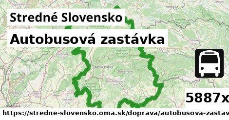 autobusová zastávka v Stredné Slovensko