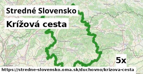 krížová cesta v Stredné Slovensko