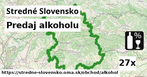 predaj alkoholu v Stredné Slovensko