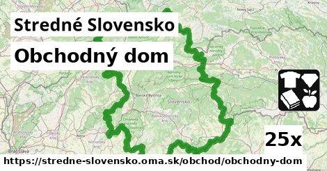obchodný dom v Stredné Slovensko