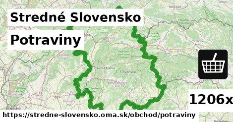 potraviny v Stredné Slovensko