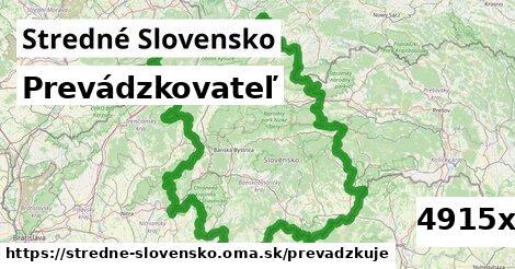 prevádzkovateľ v Stredné Slovensko