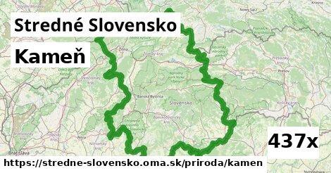 kameň v Stredné Slovensko