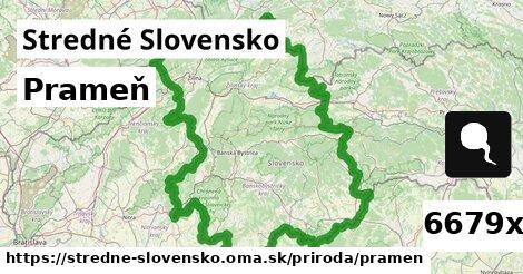 prameň v Stredné Slovensko