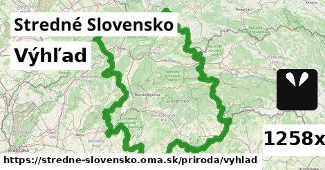 výhľad v Stredné Slovensko