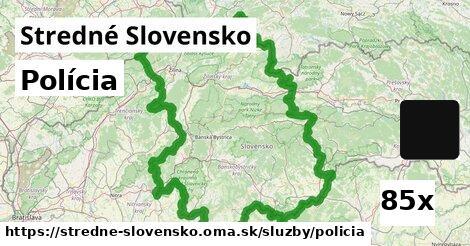 polícia v Stredné Slovensko