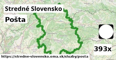 pošta v Stredné Slovensko
