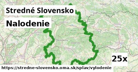 nalodenie v Stredné Slovensko