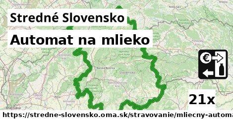 automat na mlieko v Stredné Slovensko