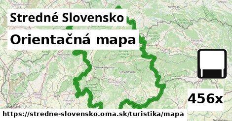 orientačná mapa v Stredné Slovensko