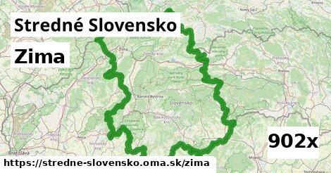 zima v Stredné Slovensko