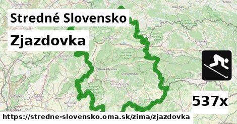 zjazdovka v Stredné Slovensko
