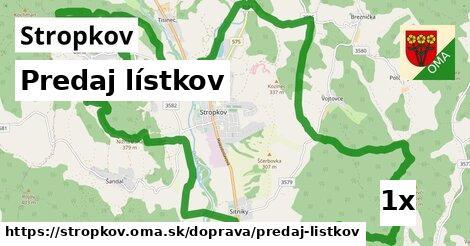 ilustračný obrázok k Predaj lístkov, Stropkov