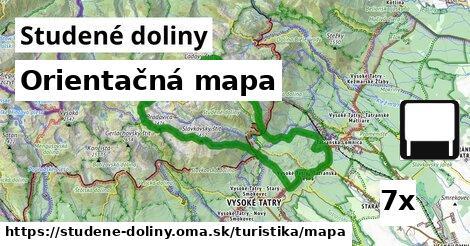 orientačná mapa v Studené doliny