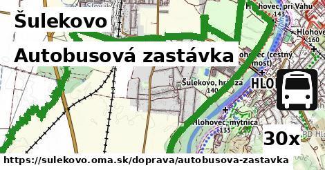 autobusová zastávka v Šulekovo