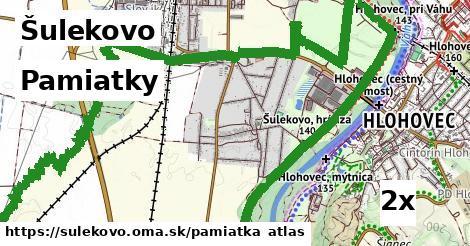 pamiatky v Šulekovo