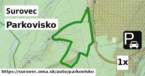 parkovisko v Surovec