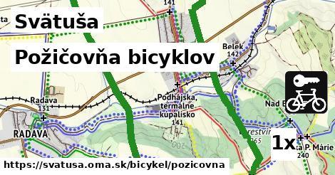 požičovňa bicyklov v Svätuša