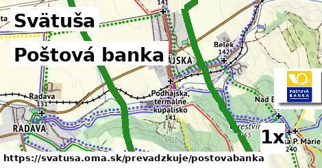 Poštová banka v Svätuša